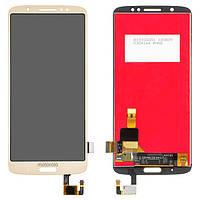 Дисплей для Motorola Moto G6 Plus XT1926, модуль в сборе (экран и сенсор), золотистый