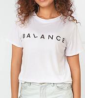 Белая женская футболка с надписью, фото 1