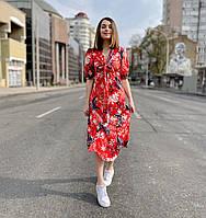 Платье в цветочный принт L (46)