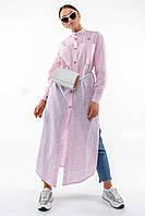 Повседневная длинная женская рубашка макси с воротником стойка (Шерити ri)