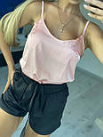 Костюм из шелка армани розовый, S, фото 4