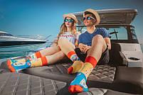 Прикольні чоловічі шкарпетки з принтом Пляжу, фото 4