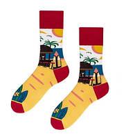 Прикольні чоловічі шкарпетки з принтом Пляжу, фото 2