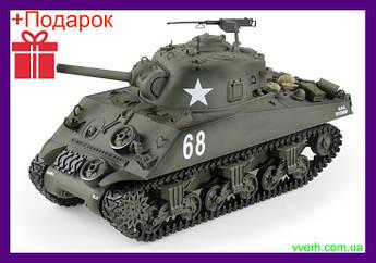 Танк на радиоуправлении HENG LONG M4A3 Sherman Стреляет,разворот на 360°,масштаб 1:16 + Дымогенератор