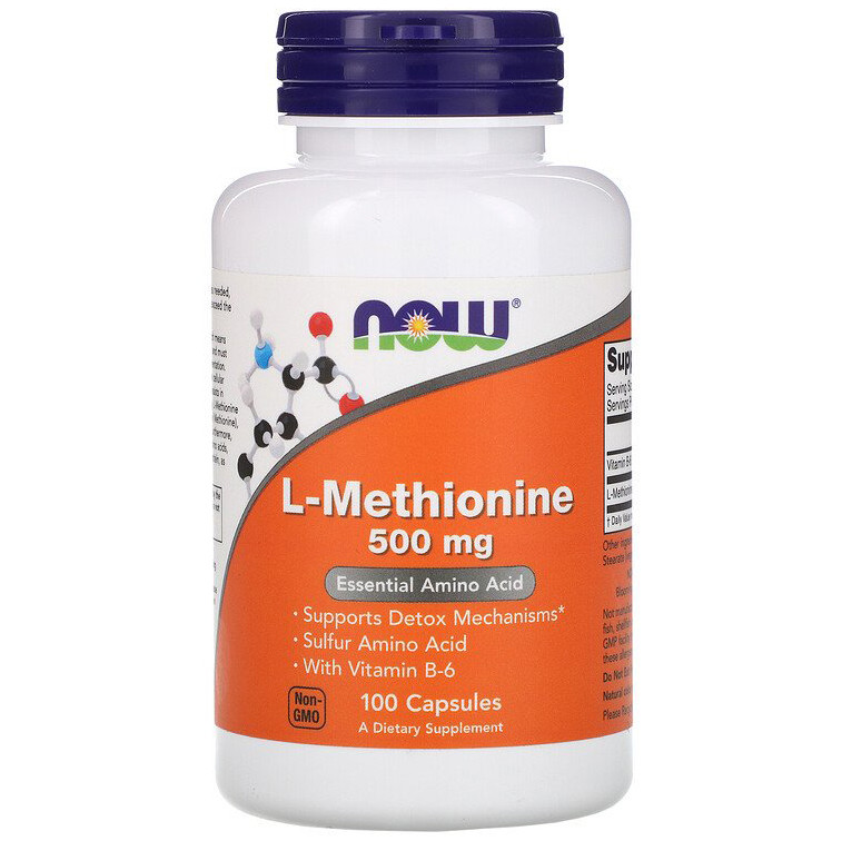 "L-Метионин NOW Foods ""L-Methionine"" поддержка печени, 500 мг (100 капсул)"