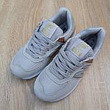 Жіночі літні кросівки New Balance 574 (сірі), фото 6