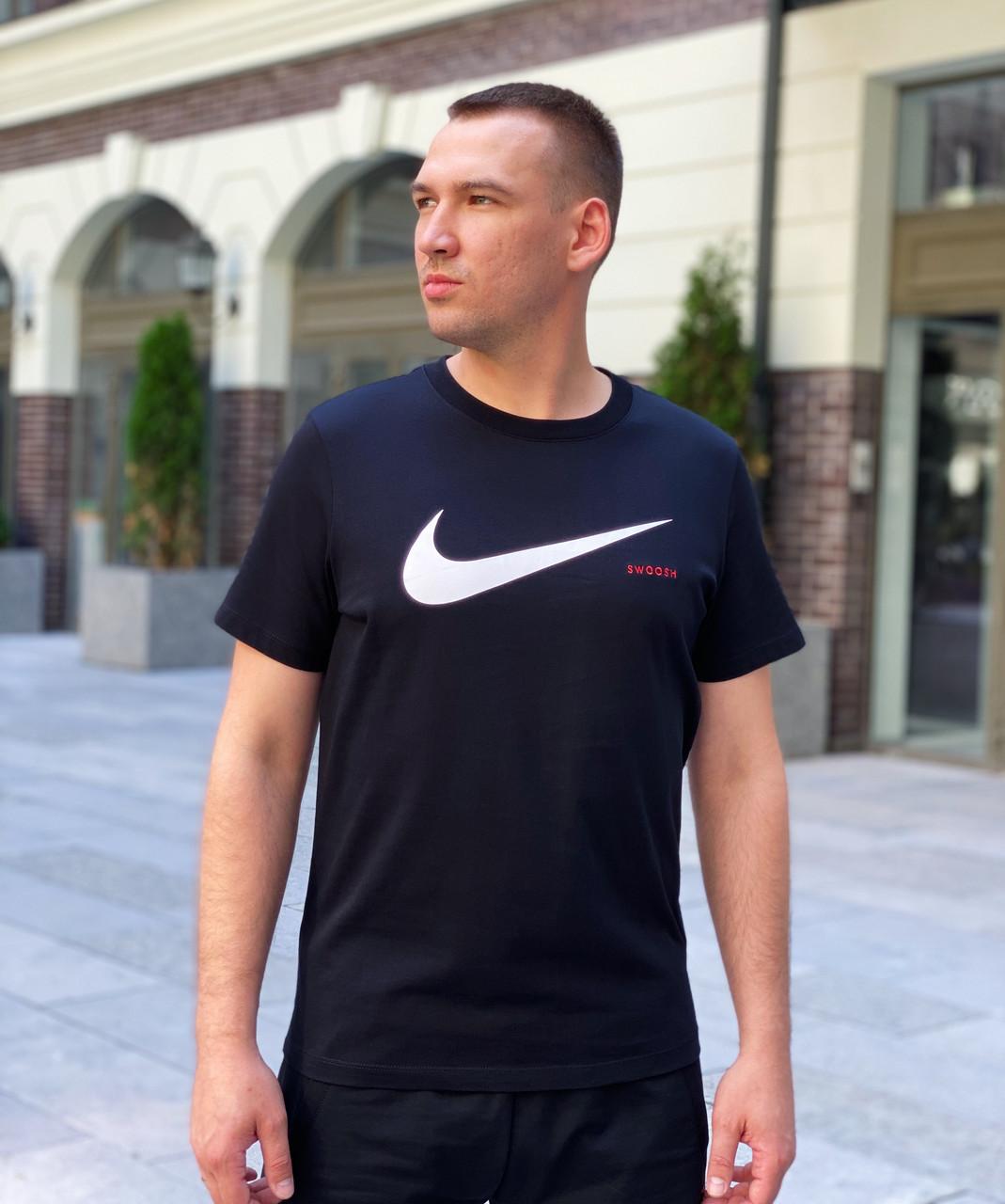 Футболка мужская Nike Swoosh / CLO-143 (Размеры:XL)