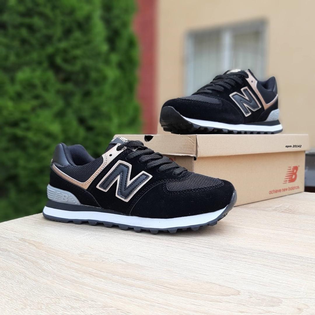 Жіночі літні кросівки New Balance 574 (чорні)