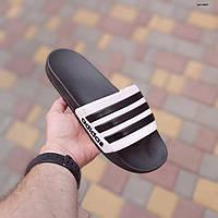 Мужские летние шлепанцы Adidas (черные) 40037