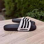 Мужские летние шлепанцы Adidas (черные) 40037, фото 2