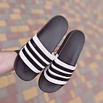 Мужские летние шлепанцы Adidas (черные) 40037, фото 5
