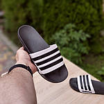 Мужские летние шлепанцы Adidas (черные) 40037, фото 6