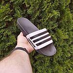Мужские летние шлепанцы Adidas (черные) 40037, фото 7