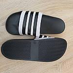 Мужские летние шлепанцы Adidas (черные) 40037, фото 8