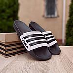 Мужские летние шлепанцы Adidas (черные) 40037, фото 9