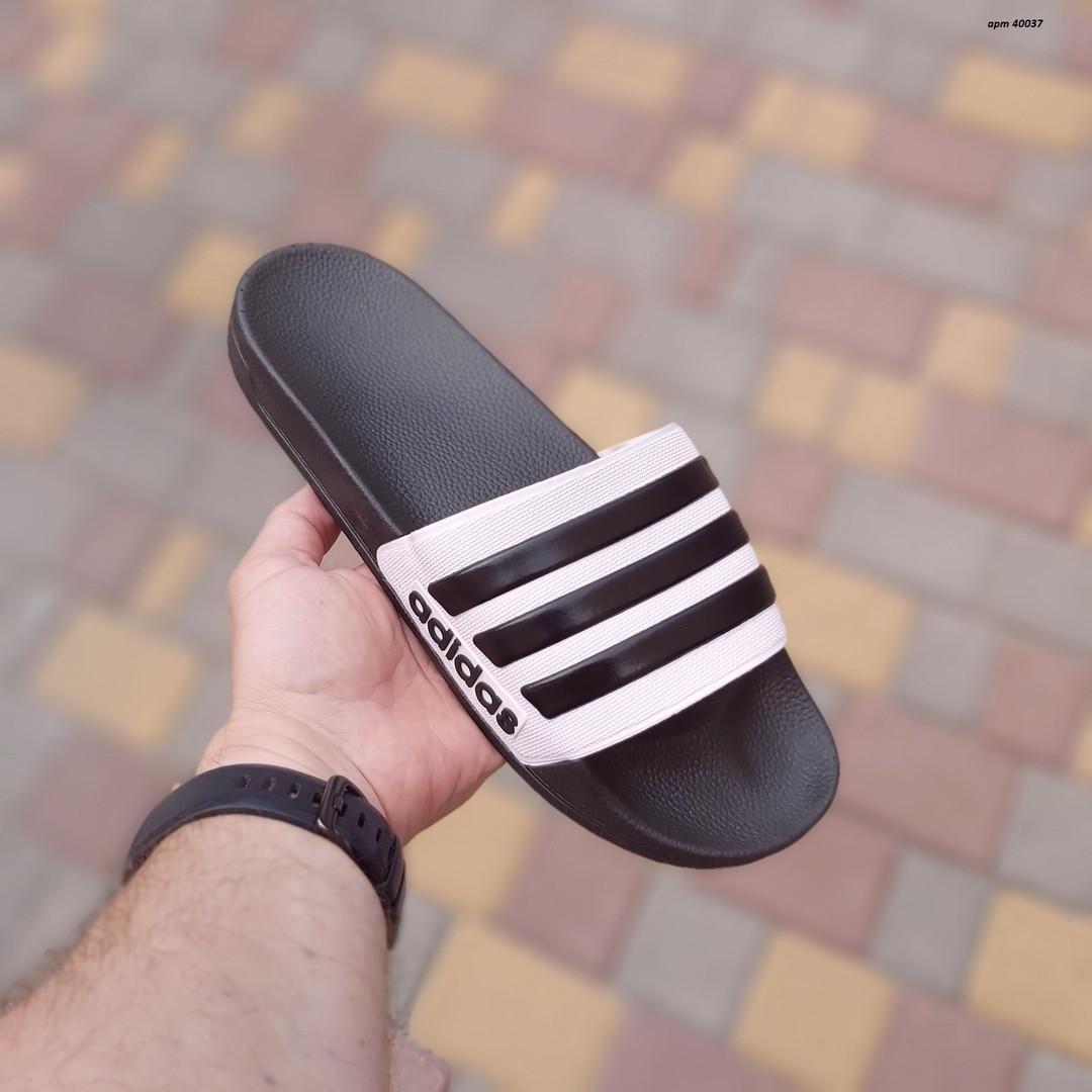 Чоловічі літні шльопанці Adidas (чорні) 40037