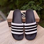 Чоловічі літні шльопанці Adidas (чорні) 40037, фото 3