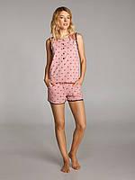 Пижама для женщин, комплект для дома, шорты и футболка, LNP 297/001 CALYPSO, 95% хлопок, ELLEN