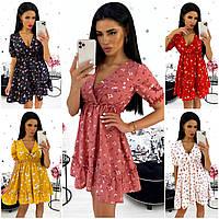 Красивое летнее платье сарафан с цветами S-M (42-44) L-XL (46-48)