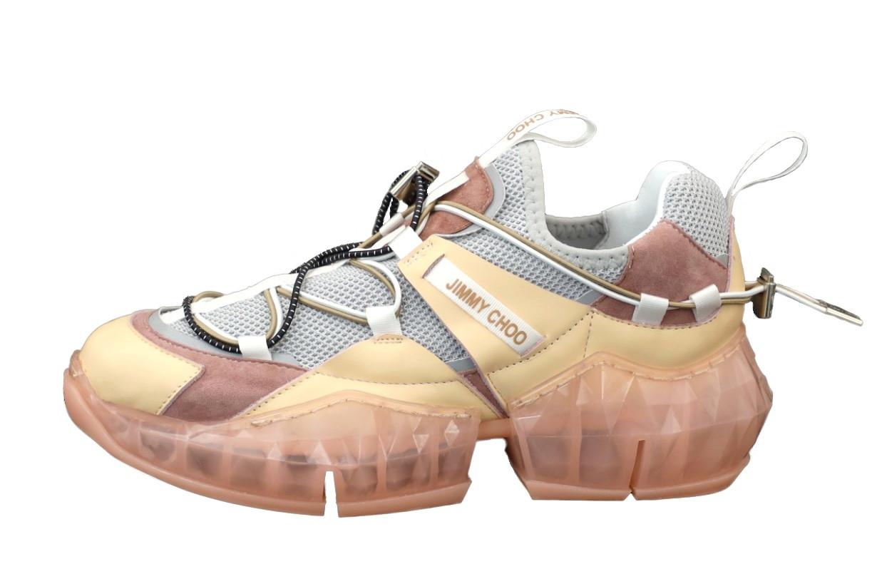 Жіночі кросівки Jimmy Choo Diamond Trail Pink (рожеві) 12178
