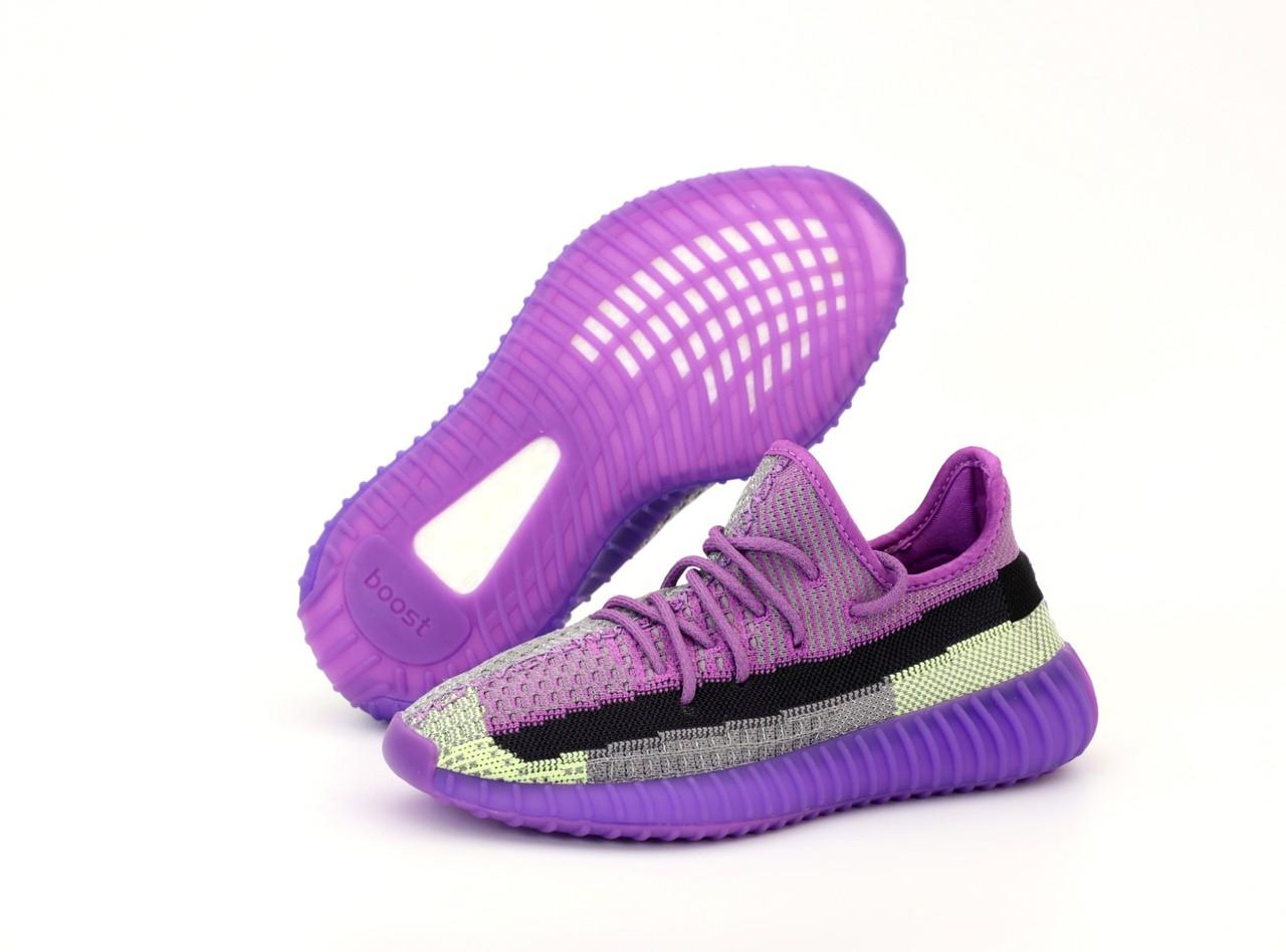 Жіночі кросівки Adidas Yeezy Boost 350 Повний рефлектив (бузкові) 12180