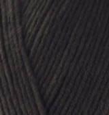 Нитки пряжа для вязания хлопок акрил COTTON GOLD ALIZE Коттон Голд Ализе № 60 - черный