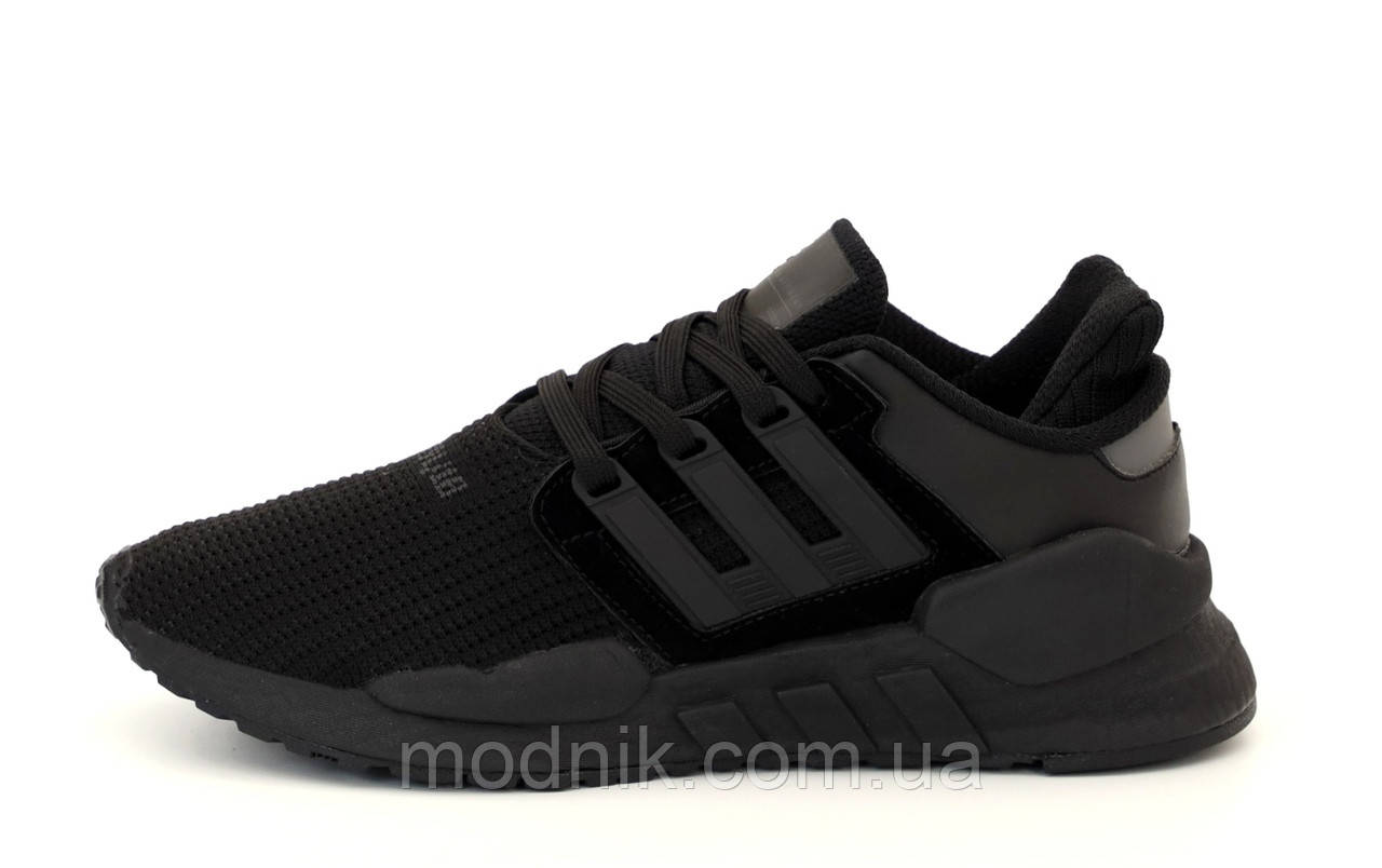 Мужские кроссовки Adidas EQT Рефлективные (черные) 12183