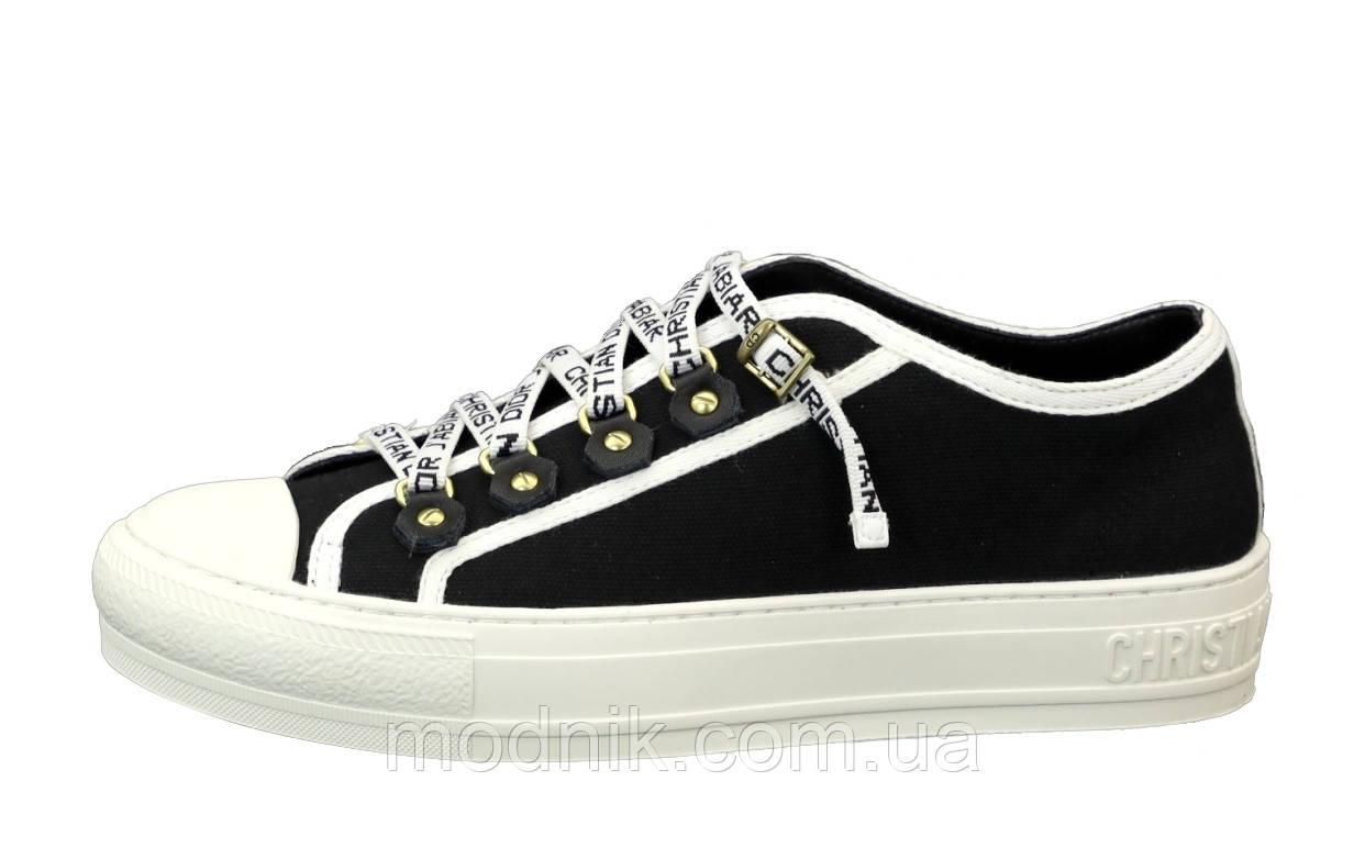Женские кеды Dior Sneakers (черно-белые) 12185