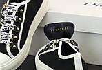 Женские кеды Dior Sneakers (черно-белые) 12185, фото 6