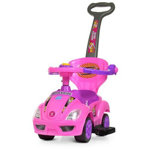 Детская машина каталка толокар для девочки Bambi M 4205-8 розовый
