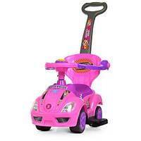 Детская машина каталка толокар для девочки Bambi M 4205-8 розовый, фото 1