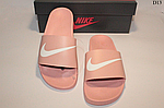 Женские летние шлепанцы Nike (розовые) D13, фото 3