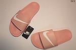 Женские летние шлепанцы Nike (розовые) D13, фото 4