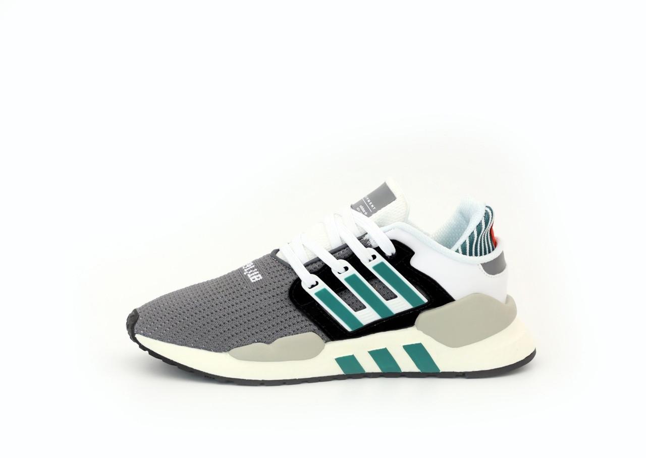 Мужские кроссовки Adidas EQT Рефлективные (серо-белые) 12184