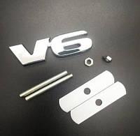 Эмблема решетки радиатора V6 8.3x2.4см