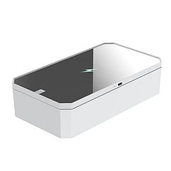 Портативный ультрафиолетовый стерилизатор UV LED с зеркалом и функцией беспроводной зарядки Белый, КОД: 1669709
