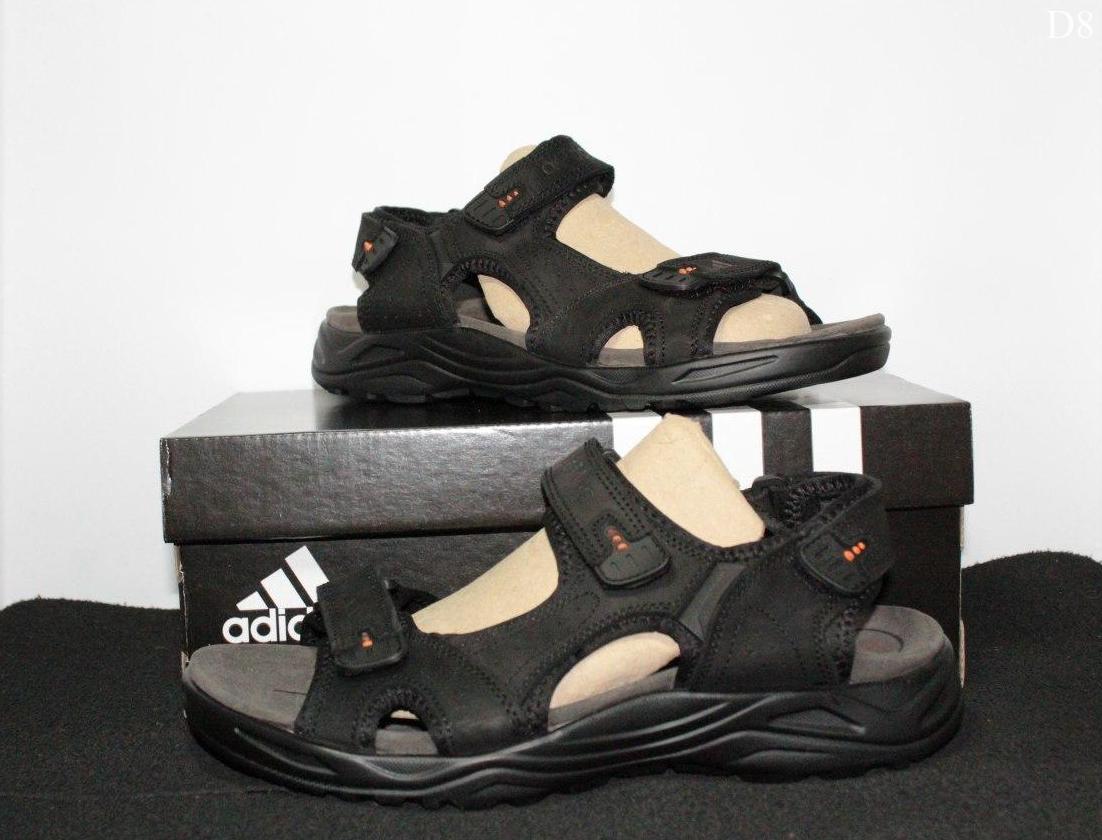 Мужские сандалии Adidas (черно-оранжевые) D8