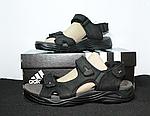 Мужские сандалии Adidas (черно-оранжевые) D8, фото 2