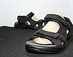 Мужские сандалии Adidas (черно-оранжевые) D8, фото 3