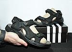 Мужские сандалии Adidas (черно-оранжевые) D8, фото 4