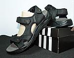 Мужские сандалии Adidas (черно-оранжевые) D8, фото 5