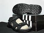 Мужские сандалии Adidas (черно-оранжевые) D8, фото 6