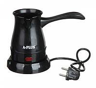 Электрокофеварка кофеварка электрическая турка электротурка розетка 220В 0,5L дисковый 600 Вт А-плюс Зеленый Черный