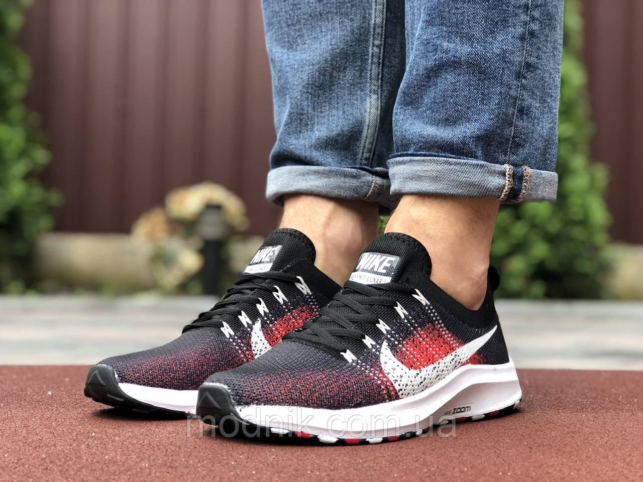 Чоловічі кросівки Nike Zoom (темно-синій з чорним і червоним) 9582