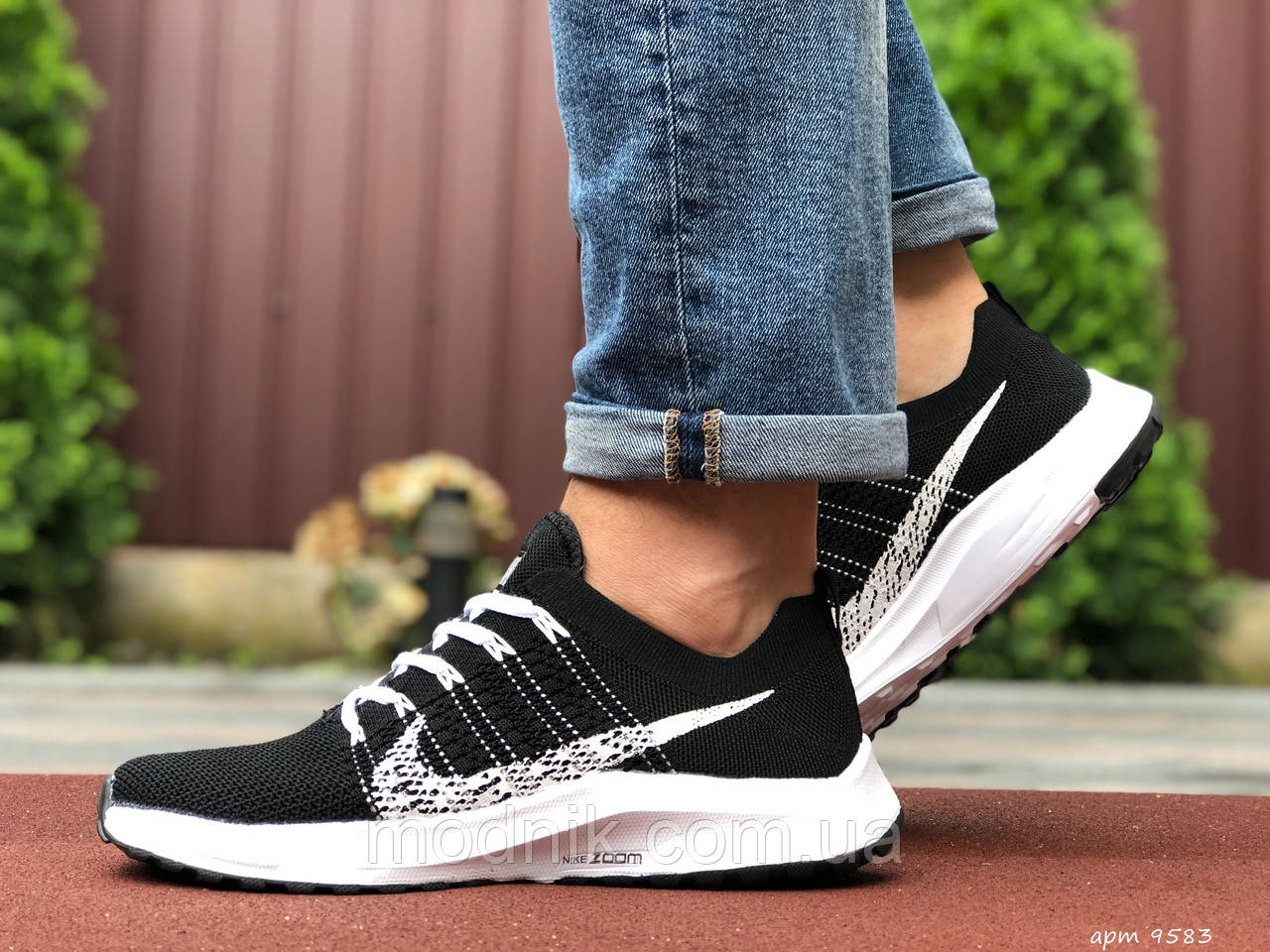 Мужские кроссовки Nike Zoom (черно-белые) 9583