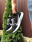 Мужские кроссовки Nike Zoom (черно-белые) 9583, фото 3