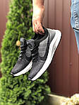 Чоловічі кросівки Nike Zoom (сіро-чорні з білим) 9584, фото 2