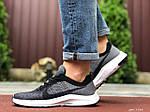 Чоловічі кросівки Nike Zoom (сіро-чорні з білим) 9584, фото 4