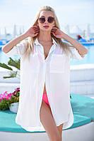 Женская туника-рубашка на пляж, фото 1