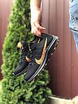 Чоловічі кросівки Nike Zoom (чорно-помаранчеві) 9585, фото 2